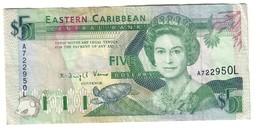 East Caribbean 1 Dollar 1993 Pick 26L - East Carribeans