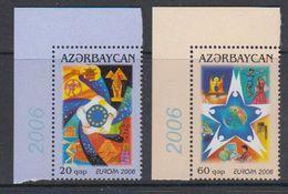 Europa Cept 2006 Azerbaijan 2v (corner)  ** Mnh (40499A) - Europa-CEPT