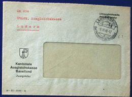 Schweiz Suisse 1948: Ausgleichskasse Baselland Mit O LANGENBRUCK 8.III.48 DER FERIENORT IM BASELBIET - Service