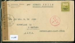 PHILIPPINES * CENSUUR LP BRIEFOMSLAG Uit 1941 Gelopen Van KNILM MANILLA COMMON WEALTH Naar SEMARANG NED-INDIE  (11.366) - Filippijnen