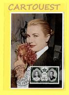 1956 GRACIA GRACE KELLY DE  MONACO  MARIAGE Avec Le PRINCE Rainier III ( Pivoine Rose ) - Femmes Célèbres
