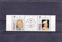Seychelles Zil Elwannyen Neuf **  1991   N° 205/206  65e Anniversaire D'Elisabeth II Et 70e Anniversaire Prince Philippe - Seychelles (1976-...)