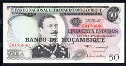 Mozambique 1976.  50  ESCUDOS. BILLETE ANTERIOR SOBRECARGADO. . NUEVO SIN CIRCULAR. PICK Nº 116    B1262 - Mozambique
