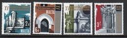 Malta Complete Set Of Stamps To Celebrate 15th Architectural Congress 1967. - Malta