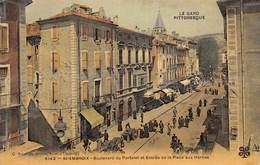 30-SAINT-AMBROIX- BOULEVARD DE PORTALET ET ENTREE DE LA PLACE AUX HERBES - Saint-Ambroix