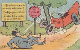 18 - Aubigny-sur-Nère - Carte Système - Attention Au Virage Merci - - Aubigny Sur Nere