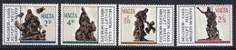 Malta Complete Set Of Stamps To Celebrate 300th Death Anniversary Of Gafa (Sculptor) 1967. - Malta
