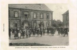 HAUTE SAONE 70.ATHESANS PENSIONNAT JEANNE D ARC (FACADE DEVANT) EN RECREATION - Francia