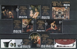 Malta Complete Set Of Stamps To Celebrate 13th Council Of Europe Art 1970. - Malta