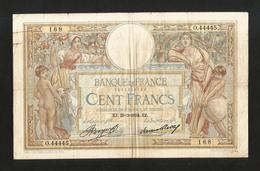 FRANCE - BANQUE De FRANCE - 100 FRANCS  (EJ. 29 - 3 - 1934)  LUC OLIVER MERSON - 1871-1952 Antichi Franchi Circolanti Nel XX Secolo