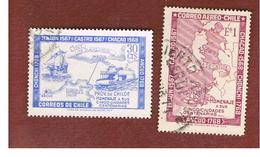 CILE (CHILE)  - SG 600.601 -  1968  FIVE TOWNS CENTENARY (COMPLET SET OF 2)  -  USED ° - Cile