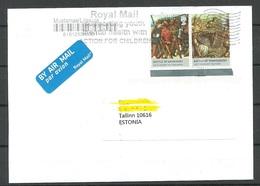 GREAT BRITAIN 2018 Cover To Estonia Battle Of Agincourt Battle Of Tewkesbury + Royal Mail Cachet - 1952-.... (Elizabeth II)