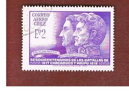 CILE (CHILE)  - SG 594 -  1968  BATTLES OF CHACABUCO & MAIPU -  USED ° - Cile
