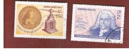 CILE (CHILE)  - SG 608.611 -  1968 225^ ANNIV. CHILEAN MINT (2 STAMPS OF THE SET)     -  USED ° - Cile