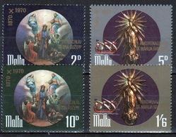 Malta Complete Set Of Stamps To Celebrate Catholic Church 1971 - Malta
