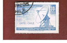 CILE (CHILE)  - SG 613 -  1969  SATELLITE ENTEL     -  USED ° - Cile