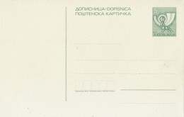 Yugoslavia - Unused Stationery - Entiers Postaux