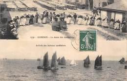 56-QUIBERON- MULTIVUES- LA DANSE DES SARDINIERES , ARRIVEE DES BATEAUX SARDINIERS - Quiberon