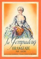 étiquette D'orangeade La Pompadour Distillerie Coloniale à Thiais - Choisy Le Roi - Fruits & Vegetables
