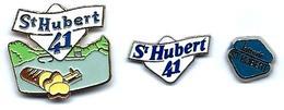 PRODUITS LAITIERS - L19 - ST HUBERT 41 - LAIT-BEURRE -  3 Pin's - Verso : SM - Alimentation