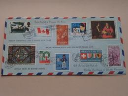Prettige Kerst En Voorspoedig 1969 / Best Dec 1968 Aluminium ZUID ( Van RIJKOM 75 IT 572 / Zie Foto Voor Details ) ! - Timbres (représentations)