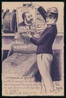 Art Leon Roze Jean Jaurès Militaire Le Grain De Sel Satirique Caricature Politique France Carte Postale Cpa 1900 - Satiriques