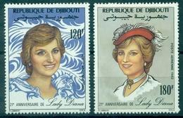 DJIBOUTI  PA 164 / 165 Nxx LADY DIANA TB Cote 7 €. - Yibuti (1977-...)
