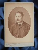 Photo  Cabinet Ad Braun à Paris - Portrait De Mr Leterme, Moustache à La François Joseph Vers 1890 L389 - Photographs
