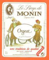 étiquette De Sirop D'orgeat Monin Georges Monin à Bourges - 100 Cl - Fruits & Vegetables
