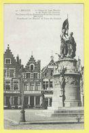 * Brugge - Bruges (West Vlaanderen) * (DG, Nr 46) Statue Jean Breydel Et Pierre De Coninck, Grand'Place, Markt, Café - Brugge