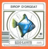 étiquette De Sirop D'orgeat Lejay Lagoute à Dijon - 100 Cl - Poisson Exotique - Fruits & Vegetables
