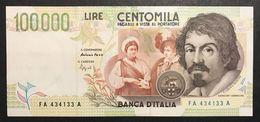 100000 Lire CARAVAGGIO 2° TIPO SERIE A 1994 Spl+ LOTTO 2332 - [ 2] 1946-… Republik