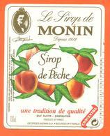 étiquette De Sirop De Peche Monin à Bourges - 100 Cl - Fruits & Vegetables