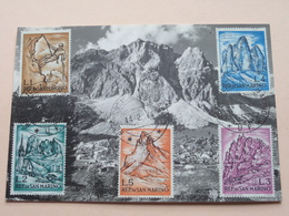 Republique SAN MARINO Carte Postale / PK : 14-02-1964 ( Photo GEDINA : Voir Photo ) Dolomiti Passo Falzarego ! - Oblitérés