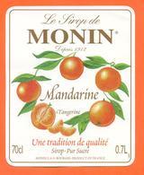 étiquette De Sirop De Mandarine Tangerine Monin à Bourges - 70 Cl - Fruits & Vegetables