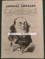 1858 JOURNAL AMUSANT - JULES JANIN Par NADAR - LES CONTEMPORAINS DE NADAR - COMME ON ECRIT L'HISTOIRE Par CARLO GRIPP - 1850 - 1899