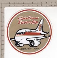 EgyptAir - Boeing 767 ° Autocollant / Adesivi / Aufkleber / Stickers - Autocollants
