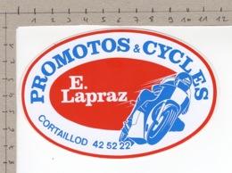 Promotos & Cycles - E. Lapraz - Cortaillod ° Autocollant / Adesivi / Aufkleber / Stickers - Adesivi