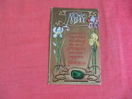 Birthstone May  Emerald  Embossed      > Ref 3068 - Genealogy