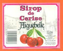 étiquette De Sirop De Cerise Aiguebelle à Grignan - 100 Cl - Fruits & Vegetables