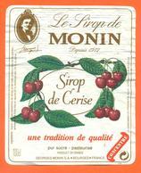 étiquette De Sirop De Cerise Monin à Bourges - 100 Cl - Fruits & Vegetables
