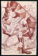 Leon Roze Jacques Lebaudy Empereur Sahara Le Grain De Sel Satirique Caricature Politique France Carte Postale Cpa 1900 - Satirical