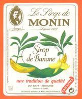 étiquette De Sirop De Banane Monin à Bourges - 100 Cl - Fruits & Vegetables