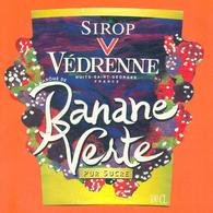étiquette De Sirop De Banane Verte Vedrenne à Nuits Saint Georges - 100 Cl - Fruits & Vegetables