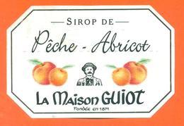 étiquette De Sirop De Peche Abricot La Maison Guiot - Fruits & Vegetables