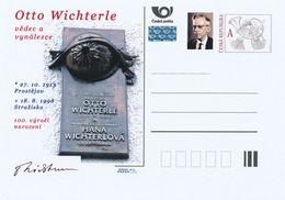 Rep. Ceca / Cart. Postali (Pre2013/46) Otto Wichterle (1913-1998) Chimico Ceco, Inventore Di Lenti A Contatto - Fabbriche E Imprese