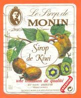étiquette De Sirop De Kiwi Monin à Bourges - 100 Cl - Fruits & Vegetables