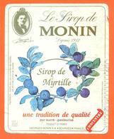 étiquette De Sirop De Myrtille Monin à Bourges - 100 Cl - Fruits & Vegetables