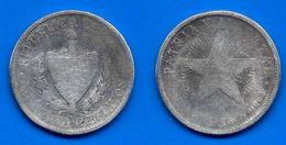 Cuba 40 Centavos 1915 Star Silver Argent Centavo Caraibe Que Prix + Port Pesos Skrill Paypal Bitcoin OK - Cuba