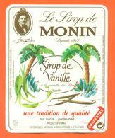 étiquette + Etiq De Dos De Sirop De Vanille Monin à Bourges - 70 Cl - Fruits & Vegetables